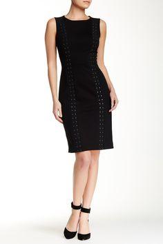 Charlotte Studded Ponte Knit Dress by NYDJ on @nordstrom_rack