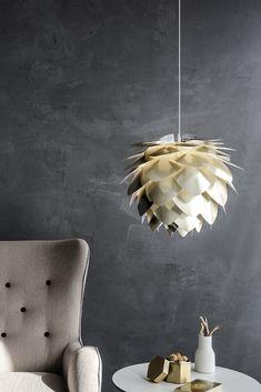 Designerpendellampe Silvia Brass Lampshade, Lamp, Ceiling Lights, Nursery Lighting, Plug In Pendant Light, Pendant Light Shades, Pendant Light, Light, Metallic Colors