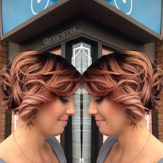 Posting another shot of Erika's hair from yesterday! I darkened her base to give it that rooty look and foiled her ends, then after everything was processed and washed, I toned her to this fierce rose gold color! I am seriously loving this color. #wella #wellalife #salonheadycandy #illumina #kolestonperfect #curls #modernsalon #btcpics #behindthechair #btc #unicorntribe #cherryhill #nj #stylist #ombre #rosegold #rosegoldhair #colortrends #nothingbutpixies #allaboutdahair #hairbrained…