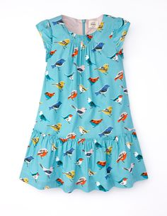 Pretty Printed Cord Dress 33323 Day Dresses and Pinnies at Boden