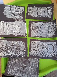 Print Making with Paint on Foam Plates