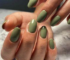 Best Acrylic Nails, Acrylic Nail Designs, Acrylic Nails Green, Green Nail Art, Matte Gray Nails, Stylish Nails, Trendy Nails, Nagellack Trends, Funky Nails