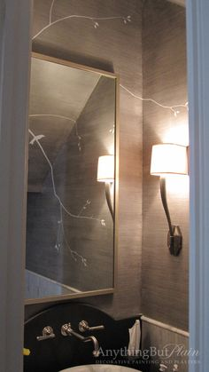 Silver Faux Silk Finish w/ Hand Painted Contemporary Design | featuring the Ruhlman Single Sconce: CHD2460