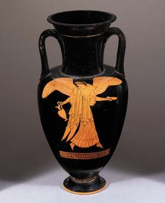 AN ATTIC RED-FIGURED NECK-AMPHORA (DOUBLEEN)   Attributed to the Berlin Painter, Circa 470 B.C.