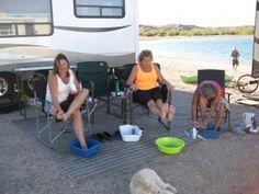 A week at Alamo Lake Arizona, pedicures for all