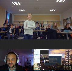 Stephen Reid @ImmersiveMind Tusind tak to @katjaborregaard and her 5th grade, for a wonderful 1st #Skypeathon call. #Minecraft #Minecraftedu #SustainableEnergy #MSFTEdu
