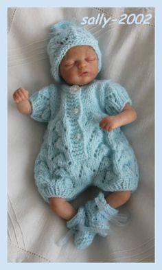 Ravissante-strickset-pour-un-environ-20cm-grand-ooak-ou-reborn-Baby
