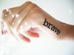 Brave - Set of 2 Tattoos di Happy Sweaters su DaWanda.com
