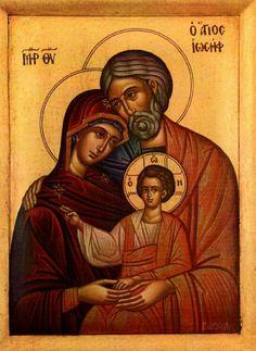 Sacra famiglia Catholic Art, Roman Catholic, Byzantine Icons, Christmas Icons, Holy Family, Orthodox Icons, Virgin Mary, Jesus Christ, Christianity