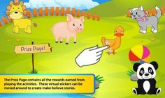FREE Android app for kids - Toddlers First Words Animals - a set of activities for developing language and fine motor skills.