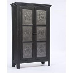 5397-72b Broyhill Furniture Attic Heirlooms Pie Safe - Black