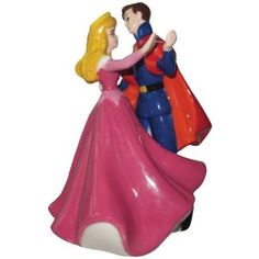 Westland Giftware Life According to Disney Princesses Sleeping Beauty and Prince Dance 4-Inch Magnetic Salt and Pepper Shakers
