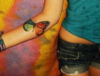 Gorgeous Butterfly Tattoo On Forearm