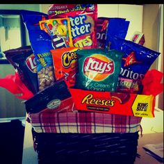Matts gift basket that I made him for valentines day :)