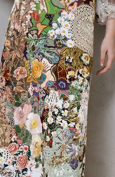 I just love the fabrics and colors here on this piece.  Alexander McQueen 2014