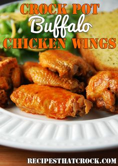 Crock Pot Buffalo Chicken Wings #crockpot #slowcooker #buffalowings