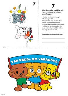 7 Situationsbilder för nedladdning – Bamse.se Educational Activities For Kids, Kids Learning, Kids Schedule, Teacher Education, Preschool Printables, Working With Children, Teaching Materials, Social Skills, Pre School