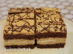 Karamelové rezy Brownie Cupcakes, Russian Recipes, Wedding Desserts, Sweet And Salty, Desert Recipes, Graham Crackers, No Bake Cake, Just Desserts, Amazing Cakes