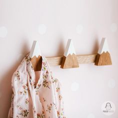 Stylish hooks a hanger for clothes and bags for a children's room in the Scandinavian or classic style Diy Wall Hooks, Home Decor Hooks, Hanger Hooks, Wall Hanger, Plant Hangers, Coat Hanger, Childrens Hangers, Kids Hangers, Kids Coat Rack