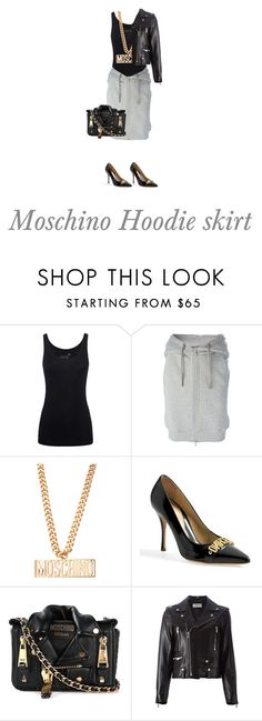 """""""Moschino Hoodie Skirt"""" by missderyckaj ❤ liked on Polyvore featuring Juvia, Moschino and Yves Saint Laurent"""