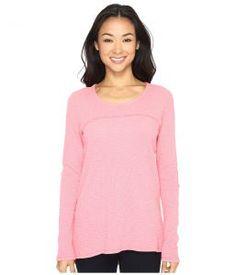 Mod-o-doc Vintage Slub Thermal Back Vent Long Sleeve Tee (Guava) Women's T Shirt