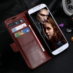 Kisscase fashion flip case para galaxy s4 siv i9500 accesorios del teléfono soporte de la carpeta de cuero de lujo de la cubierta de cuero para samsung s4