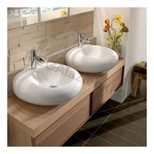 Surface-mounted bathroom sinks from Pure Stone collection Bathroom Furniture, Bathroom Interior, Bathroom Sinks, Bathroom Ideas, Bathrooms, Modern Baths, Basin, Countertops, Pure Products