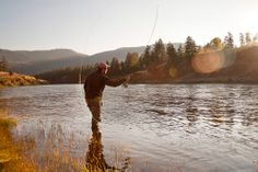Fly Fishing on the Clark Fork River in Missoula, Montana. Photographed by commercial photographer Brad Nicol. www.bradnicolphotography.com