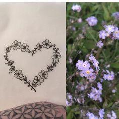 Don& Forget Me Heart Tattoo by Medusa Lou Tattoo Artist - medusaloux @ outlo . - Don& Forget Me Heart Tattoo by Medusa Lou Tattoo Artist – medusaloux @ outloo … – Tatto - Tatoo Heart, Heart Flower Tattoo, Small Heart Tattoos, Small Flower Tattoos, Tattoo Flowers, Tattoo Small, 3 Hearts Tattoo, Small Girly Tattoos, Heart Tattoo Designs