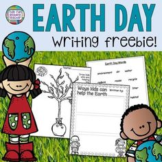 Earth Day Free Printable for Primary Students This free Earth Day printable is an ideal writing template for primary students. Entitled 'Ways Kids Can Help The Earth', and divided into three sections, its versatility lends itself to a number of uses (i. Educational Activities For Kids, Writing Activities, First Year Teaching, Teaching Ideas, First Grade Writing, 2nd Grade Teacher, Happy Earth, Language Activities, Elementary Science