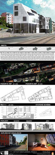 Studentský projekt. LS 2013/2014. FSv ČVUT v Praze. Praha, Ideas Para, Mansions, House Styles, Home, Atelier, Manor Houses, Villas, Ad Home