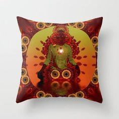 Inner Light  Throw Pillow by Webgrrl