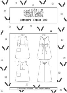 PDF Bennett dress sewing pattern by MarillaWalker on Etsy https://www.etsy.com/au/listing/294216515/pdf-bennett-dress-sewing-pattern