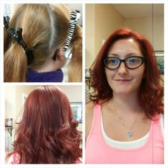 Hair color by Cindy Kenra and olaplex #redhair