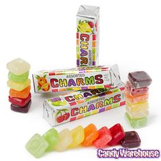Charms Squares Candy Packs: 20-Piece Box