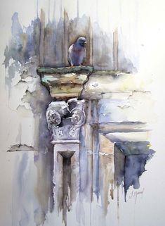 Turenne - Josette MARREL WATERCOLOR