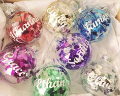 Personalised Christmas Bauble Decoration. by FromLeoniWithLove