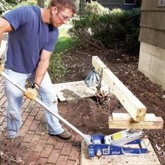 Our front bushes are getting too big and need to be replaced.  But how?  Glad to find this.  A car jack and lever system simplifies the problem of pulling stubborn shrubs and avoids hours of backbreaking digging and chopping.