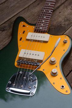 Sherwood Green repainted J Mascis Squier Jazzmaster