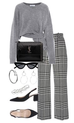 """Untitled #5115"" by theeuropeancloset on Polyvore featuring Zuhair Murad, Balenciaga, Yves Saint Laurent, Le Specs and MANIAMANIA"