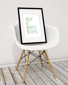 KISS Art Print Keep It Simple Stupid office art by StarsAndPeaches