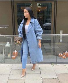 Image by Harriët Taylor. Mode Outfits, Chic Outfits, Spring Outfits, Fashion Outfits, Womens Fashion, Fashion Trends, Black Girl Fashion, Denim Fashion, Fashion Looks