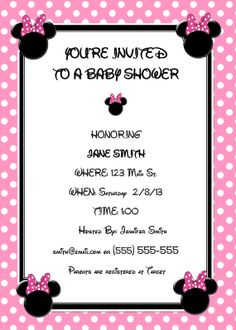 Download free printable little minnie mouse baby shower invitation download free printable little minnie mouse baby shower invitation idea free baby shower invitation pinterest minnie mouse baby shower filmwisefo