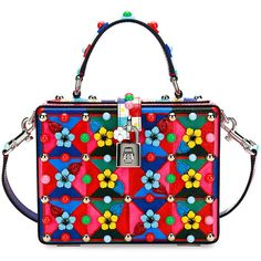 Dolce & Gabbana Dolce Box Maiolica-Print Top-Handle Satchel Bag (€3.235) ❤ liked on Polyvore featuring bags, handbags, purses, multi, man bag, hand bags, floral purse, satchel purses and studded handbags