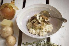 Mushroom & Caramelised Onion Porridge - Rude Health : Rude Health