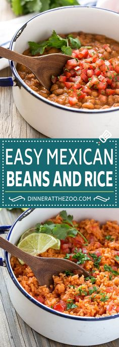 Pinto Beans and Rice – Dinner at the Zoo Pinto Beans and Rice Recipe Mexican Beans Recipe, Mexican Beans And Rice, Mexican Pinto Beans, Rice And Beans Recipe, Mexican Rice Recipes, Rice Recipes For Dinner, Mexican Cooking, Veggie Recipes, Vegetarian Recipes