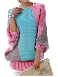 Round Neck Long Sleeve   Pullover Cardigan from fashionmia.com