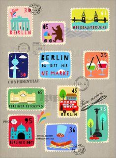 Berlin - Du bist ne Marke Poster von Elisandra