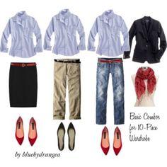 10 - Piece Wardrobe - Blue Shirt