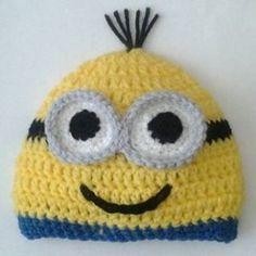 Minion Beanie hat Free Crochet Pattern | Sticks, String, and Caffeine